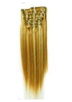 "10 Pcs From 14"" Lovely Straight Clip In Full Head Set"