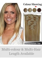 """7 Pcs From 14""""(70G) Straight Clip In Full Head Set"""