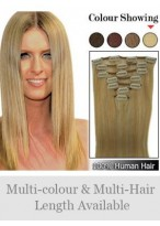 """7 Pcs From 14"""" Clip In Full Head Set - Straight"""