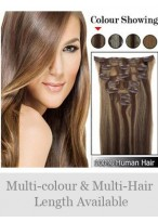 """Beautiful 7 Pcs From 14"""" Straight Clip In Full Head Set"""