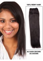 "14"" Straight Charming Indian Remy Hair Extensions"