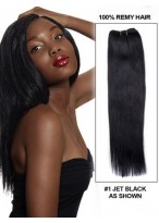 """14"""" Graceful Straight Hair Weft Extensions"""