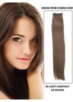 "18"" Straight Gorgeous Human Hair Weft Extensions"