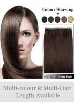 """Straight 20"""" PU Skin Weft Remy Human Hair Extensions"""