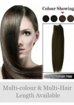 """60"""" Wide Straight Remy Human Hair Full Head Extensions"""