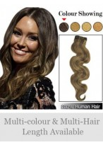 Fashion Wavy Indian Remy Hair Weft Extensions