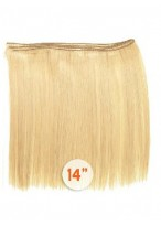 """14"""" Human Hair Straight Weft Extensions"""