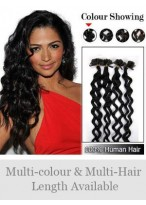 "Perfect 20"" 100% Human Hair Wavy Nail Tip Extensions"