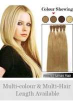 "18"" 100% Human Hair Stick Tip Extensions"