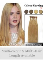 "Graceful 18"" 100% Human Hair Stick Tip Extensions"