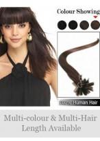 "Simple 18"" 100% Human Hair Nail Tip Extensions"