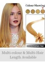 """18"""" 100% Human Hair Beautiful Nail Tip Extensions"""