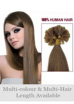 "Charming 20"" Straight Nail Tip Remy Human Hair Extension"