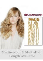 "Beautiful 20"" Nail Tip Wavy Remy Human Hair Extension"