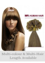 "22"" Charming Human Hair Straight Nail Tip Extension"