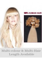 "Comfortable 26"" Straight Nail Tip Human Hair Extension"