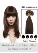 """Lovely 26"""" Nail Tip Straight Human Hair Extension"""