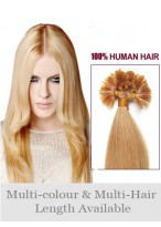 "Attractive 22"" Straight Nail Tip Human Hair Extension"