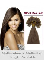 "Nice 22"" Nail Tip Straight Human Hair Extension"