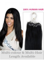 "22"" Natural Micro Loop Human Hair Extensions"