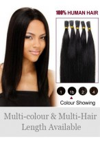 """16"""" Natural Stick Tip Remy Human Hair Extensions"""