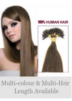 """16"""" Stylish Stick Tip Human Hair Extensions"""