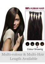 "18"" High Quality 100% Human Hair Stick Tip Extensions"