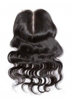 Middle Part Remy Hair Body Wave Lace Closure