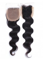 Perfect Remy Hair Free Part Body Wave Natural Black Lace Closure
