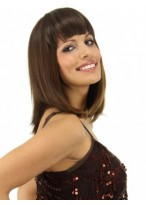 Straight Synthetic Clip in Bangs