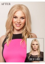 Charming Wavy Synthetic Clip in Hairpieces