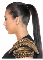 """24"""" Long Straight Remy Human Hair Ponytail"""