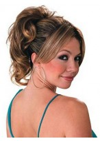 """10"""" Brown Wavy With Claw Comb Attachment Synthetic Ponytail"""