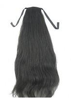 Stylish Human Hair Straight Ponytail