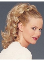 Morden Mid-length Ponytail With Clip