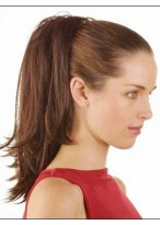 Ponytail With Claw Comb Attachment