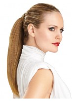 Crimped Texture Straight Ponytail