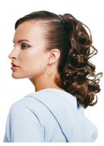 Claw Clip Curly Locks Synthetic Ponytail