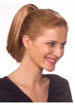 Sleek Straight Clip On Synthetic Ponytail