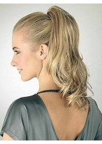 Wavy With Claw-Clip Attachment Synthetic Ponytail