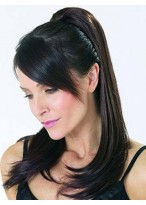Straight Layered With Clip Attachment Synthetic Ponytail