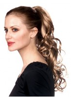 Wavy Clip-In Remy Hair Ponytail