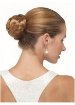 Brown Synthetic Updo With Pressure Clip
