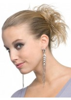 Sleek Layers Scrunchie Style Synthetic Wrap