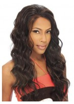 Long Wavy Remy Human Hair Lace Front Wig