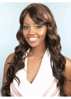 Side Fringe Water Wavy Synthetic Wig