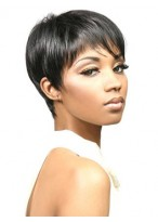 Bori Short Natural Straight Synthetic Wig