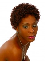 Short Curly Synthetic African American Wig