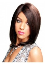 Medium Lace Front Straight Synthetic Wig