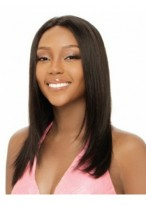 Modern Capless Straight Long Human Hair Wig